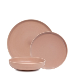 Hue Dinner Set - 12 Piece - Blush