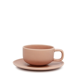 Hue Tea Cup & Saucer - 200ml - Blush