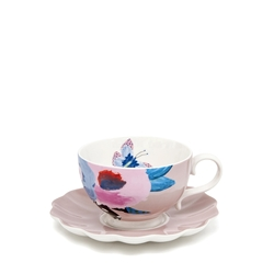 Willow Tea Cup & Saucer - 240ml - Peony