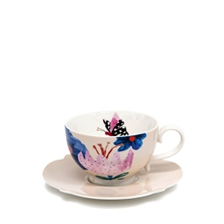Willow Tea Cup & Saucer - 240ml - Poppy