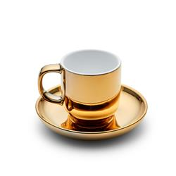 METALLIC Espresso Cup and Saucer - Gold