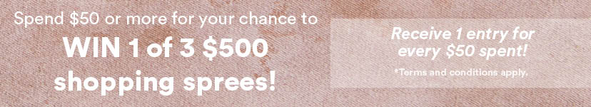 Win 1 of 3 $500 shopping sprees