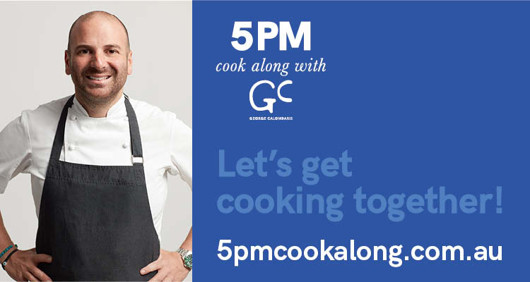 5PM cook along with George Calombaris