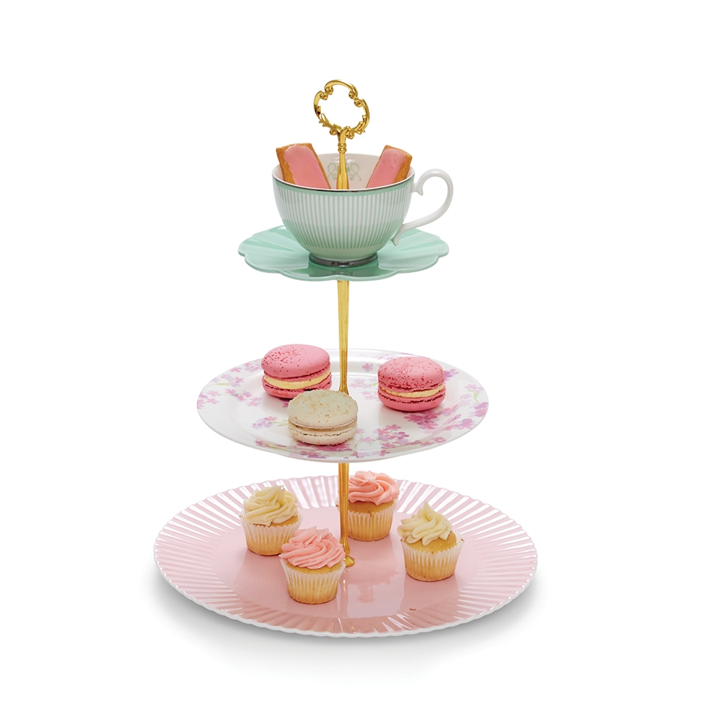 ECLECTIC Cake Stand - 3 Tier Zoom. RRP $59.95  sc 1 st  Salt u0026 Pepper & ECLECTIC Cake Stand - 3 Tier - Salt and Pepper - Salt and Pepper
