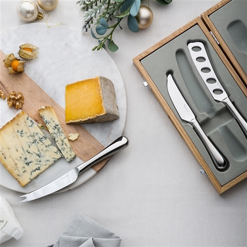 Robert Welch RADFORD Bright Cheese Knife Set -3 Piece