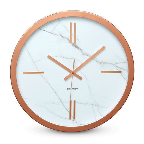 ZONE Wall Clock   Rose Gold And Marble