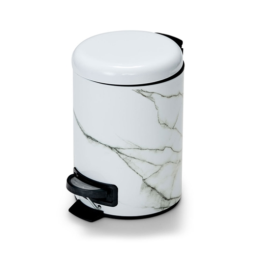 SUDS Rubbish Bin - White Marble