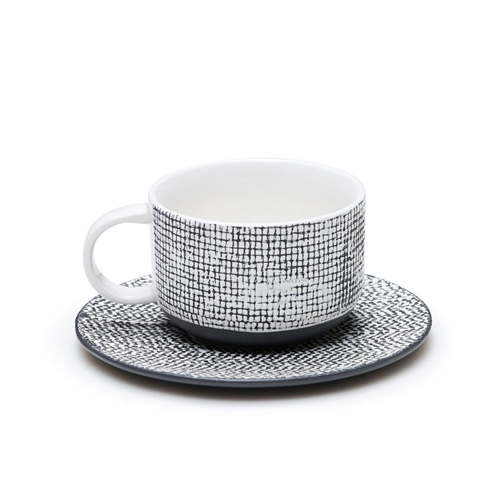 RAWW Tea and Saucer - Black