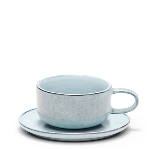 RELIC Tea Cup & Saucer - 300ml - Blue