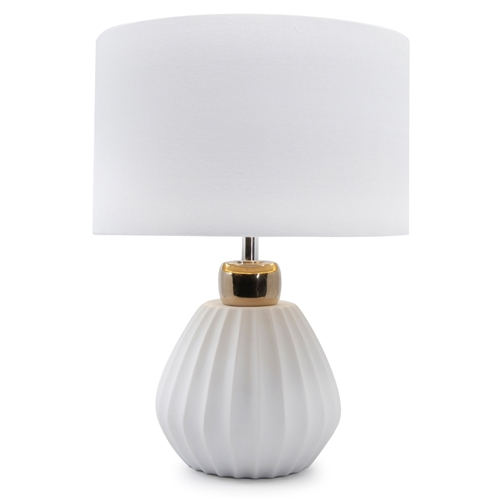 LILOU Table Lamp - 41cm - White & Gold