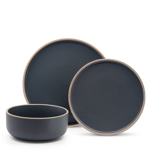 HANA Dinner Set - 12-Piece - Charcoal
