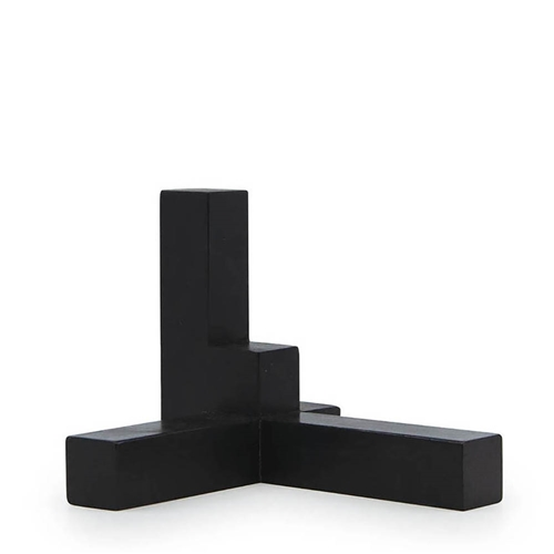 METRIC Axis Décor Object - Black Wood