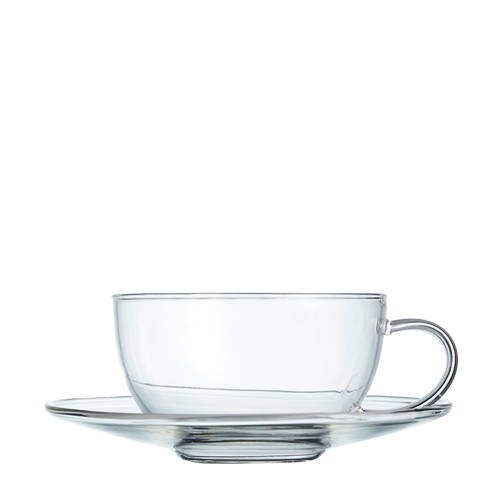 BREW Tea Cup and Saucer Set - Glass