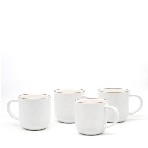 HANA Mug Set - 4-Piece - 380ml - White