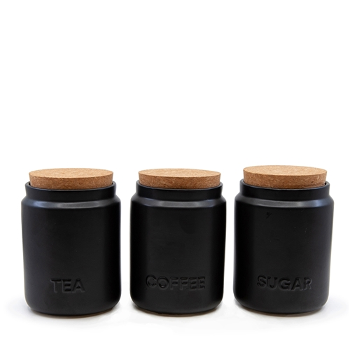 STRAND Canister Set - 3 Piece - Black