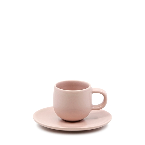 HUE Espresso Cup and Saucer Set - 85ml/12cm - Pink