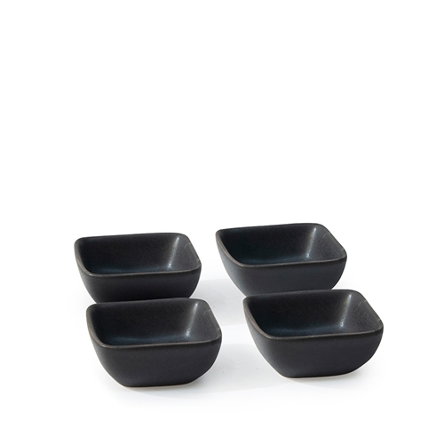 MAJOR Condiment Dish Set - 4 Piece - 7cm - Black