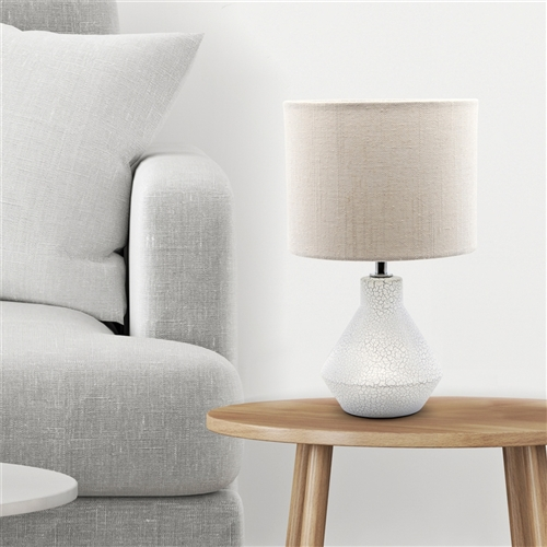 CRACKLE Table Lamp - 32cm - White