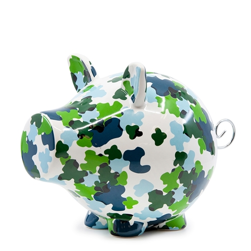 OINK Money Box - 23cm - Camo