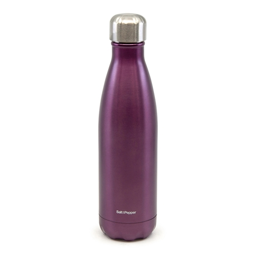 Hydra Water Bottle - 500ml - Metallic Plum