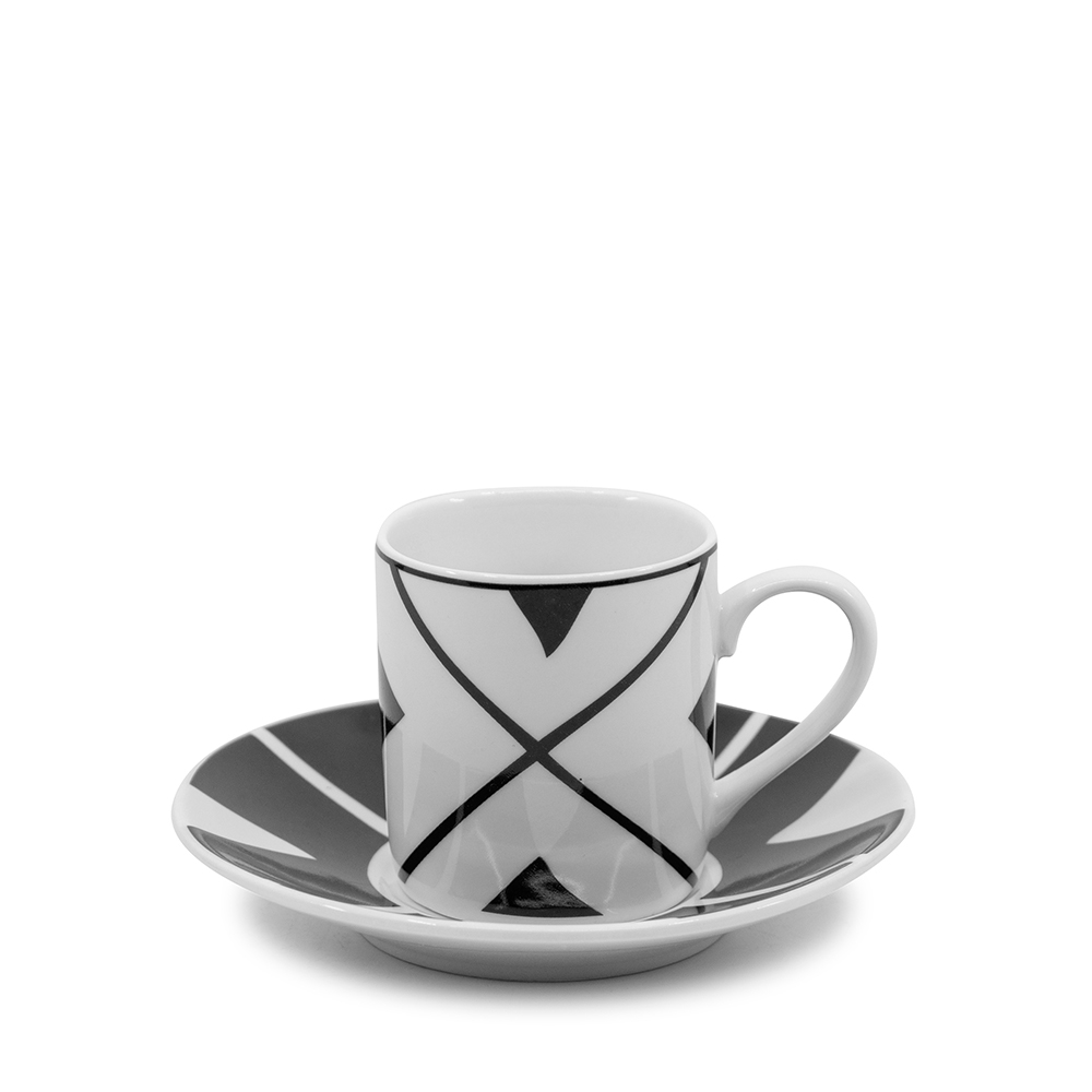 NEW S /& P Edge Espresso Cup /& Saucer Set 90ml